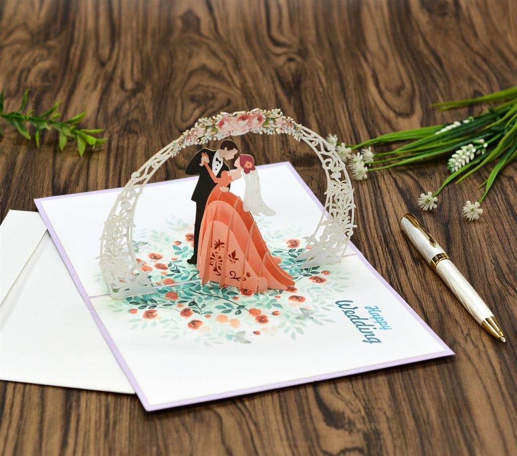 Wedding popup card invitation