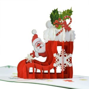 christmas pop up card CN159
