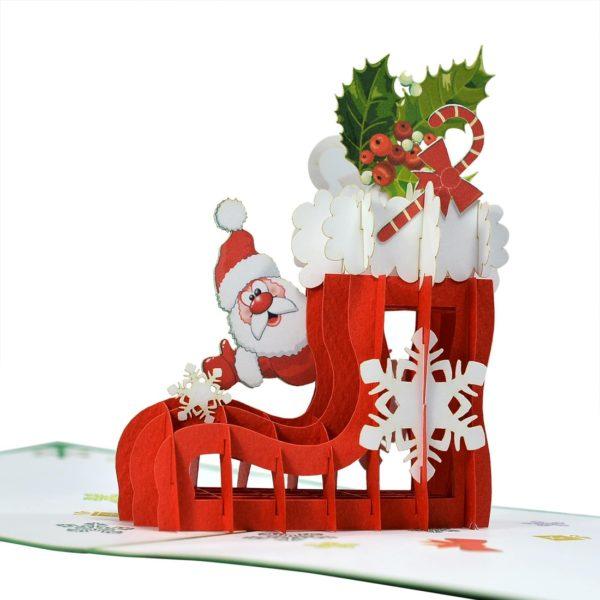 christmas pop up card CN159