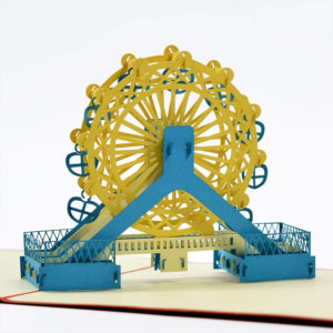 famous building pop up card FB047 3