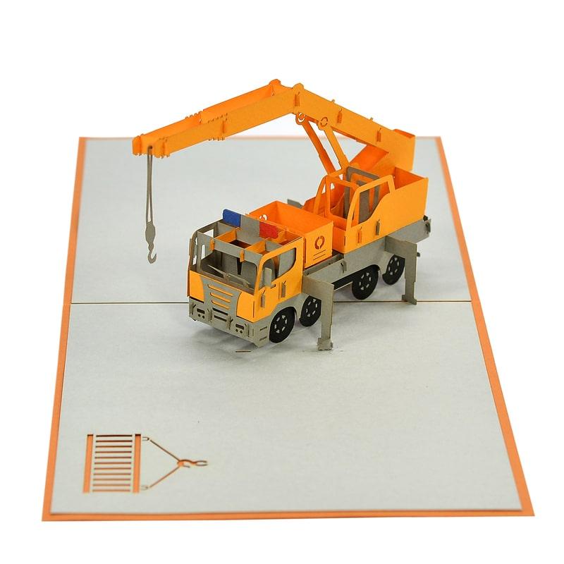 Crane truck models greeting card