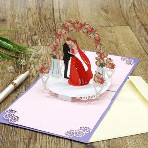 wedding pop up card wd041