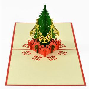 Pine tree popup card