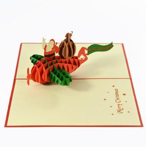 santa clause popup card