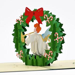 Advent wreath popup card