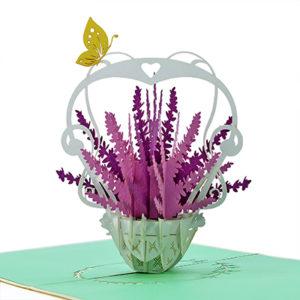 Lavender Vase Popup Card