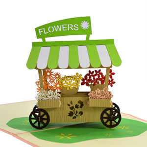 3D Flower popup card