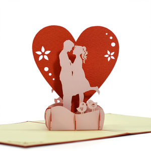 Love popup card 3d