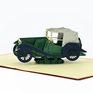 Classic Car 3D Pop Up Card