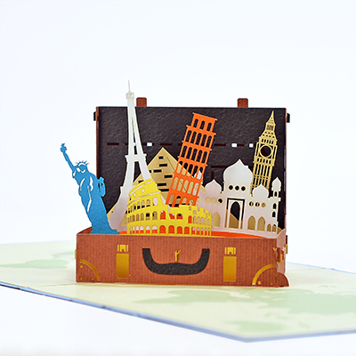 travel popup card