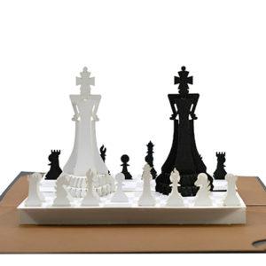 Popup card chessboard 3D