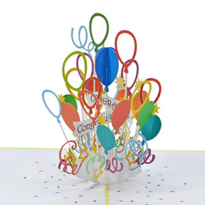 bunch of balloons popup card