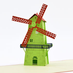windmill popup card