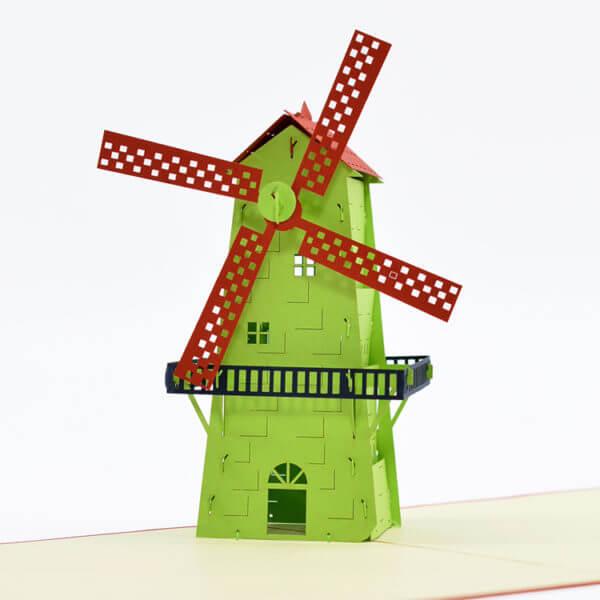 windmill popup card