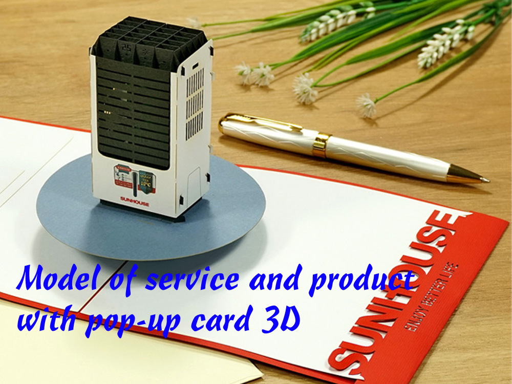Manufacturing 3D popup card