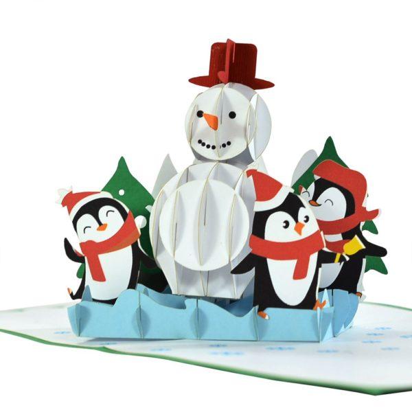 Snowman Popup card 3D