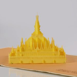 That Luang 3D popup card