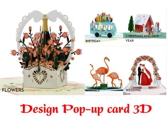 Design 3D popup card
