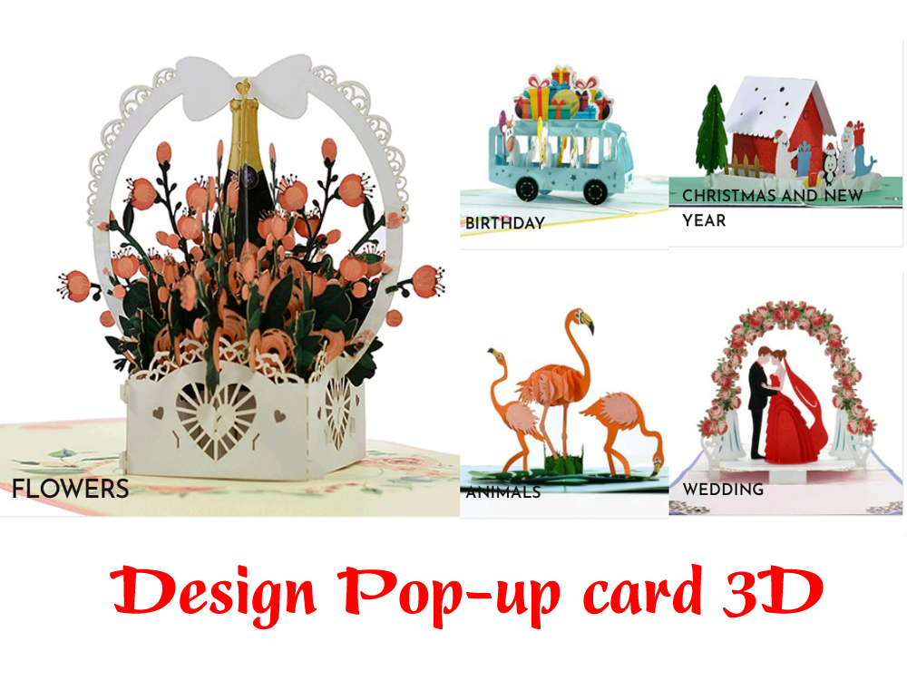 Design 3D popup card