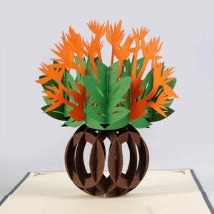 Flowers 3D pop up card