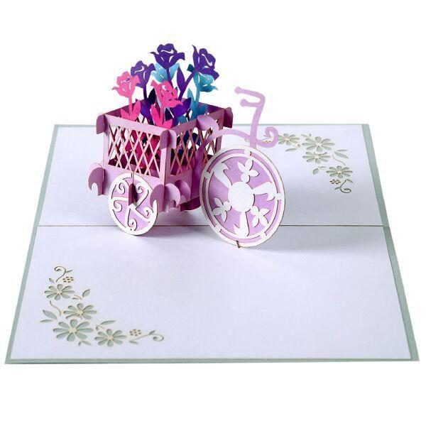 flower popup card