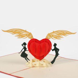 Popup card valentine