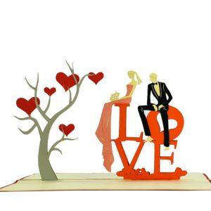 Love popup card
