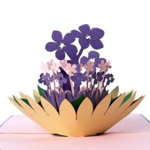 Flower lapis popup card