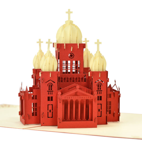 3D church model popup card