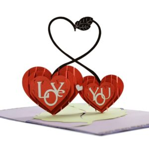 Popup love card for valentine