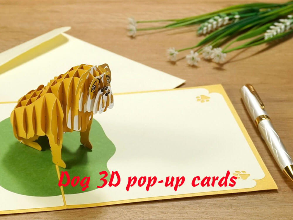 Dog 3D popup card